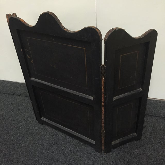 Antique Painted Fireplace Screen - Image 9 of 9