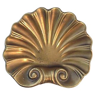 Brass Clamshell Catchall Bowl
