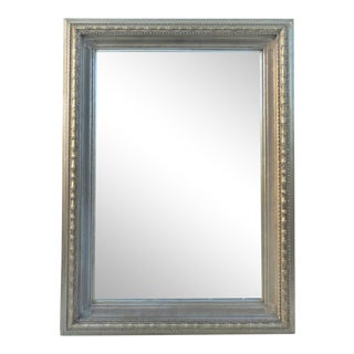Large Silver Gilt Faux Bamboo Mirror