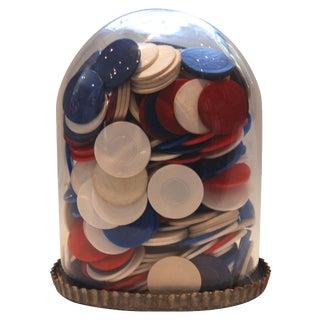 Poker Chips Under Glass