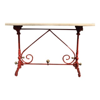 Early 19th Century French Painted Marble Top Pastry Table