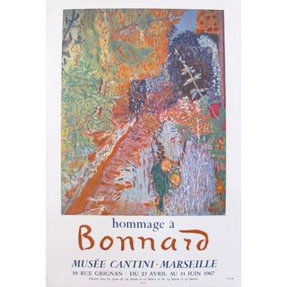 1967 French Exhibition Poster, Hommage a Pierre Bonnard