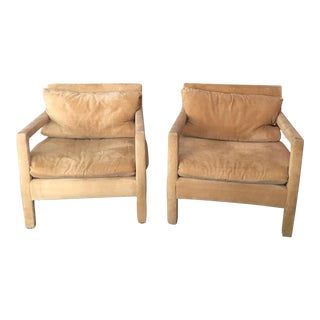 Mid-Century Open Arm Lounge Chairs - A Pair