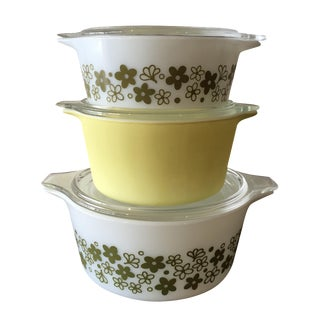 Pyrex Spring Blossom Casserole Dishes - Set of 3