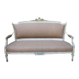 19th C. Painted French Settee