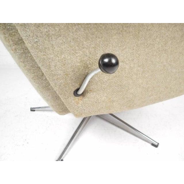 Mid-Century Modern Adjustable Danish Lounge Chair and Ottoman - Image 8 of 11