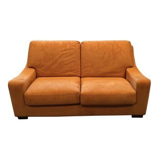 Suede Caramel Love Seat