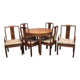 Chinese Rosewood Dining Table & 6 Chairs - Dining Set