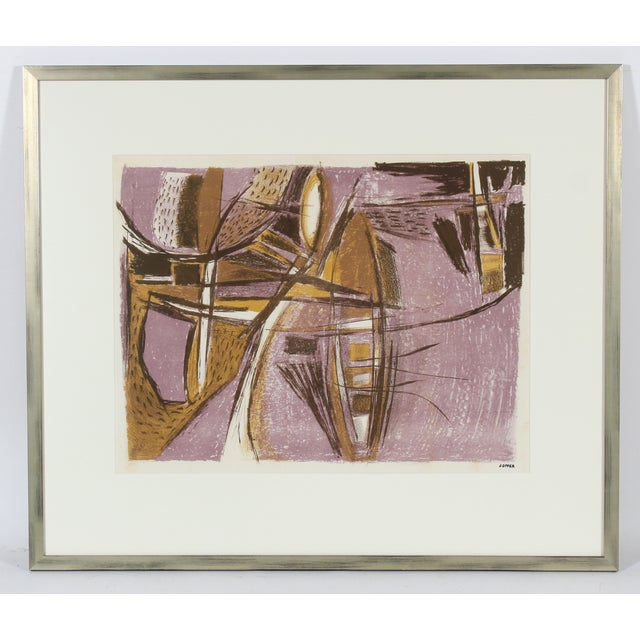 Mid Century Abstract Lithograph - Image 2 of 3