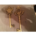 Image of Antique English Brass Keys - A Pair
