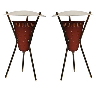 Tripod Bedside Table Lanterns by Disderot - A Pair