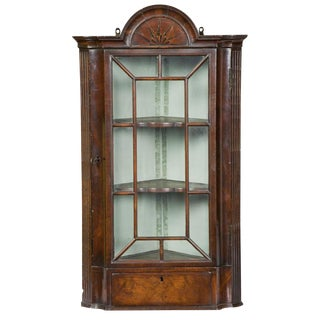 Mahogany Queen Anne Corner Cabinet with Mariner's Star