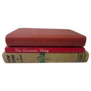 Classic Vintage Antique Books - Set of 3