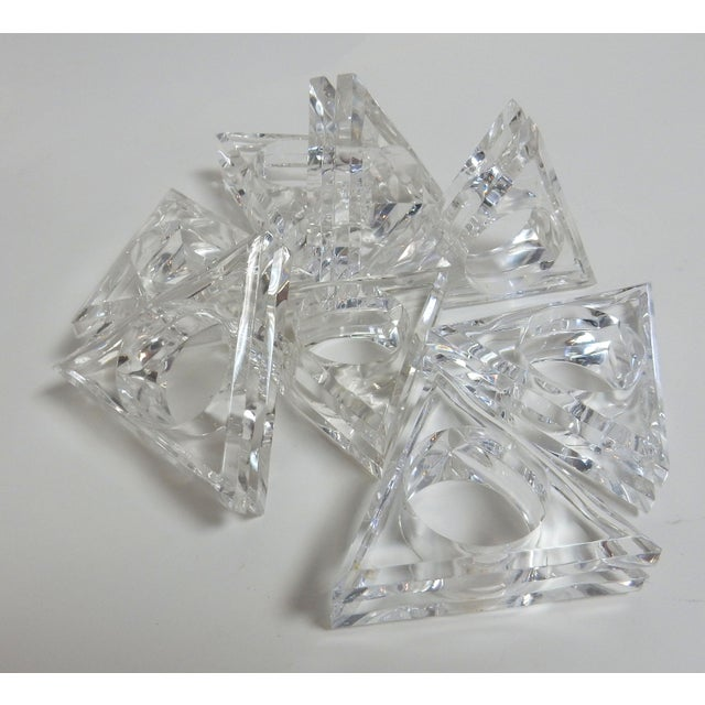 Image of Mid-Century Modern Acrylic Napkin Rings - Set of 8