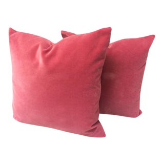 Blush Velvet Pillows - a Pair