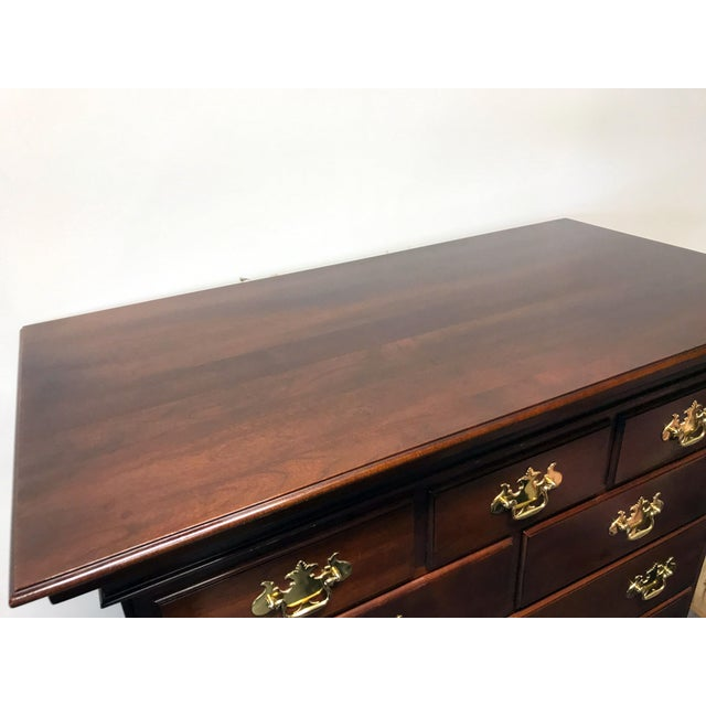 Statton Private Collection Solid Cherry Salem High Chest - Image 9 of 11
