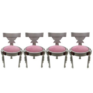 Pink Memphis Totem Chairs - Set of 4