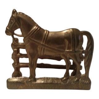 Solid Brass Horse Business Card Holder