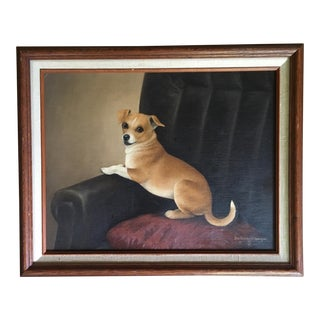 Vintage Chubby Chihuahua Portrait Painting