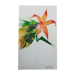 """""""Burst of Orange"""" Original Watercolor Painting by Steve Klinkel"""