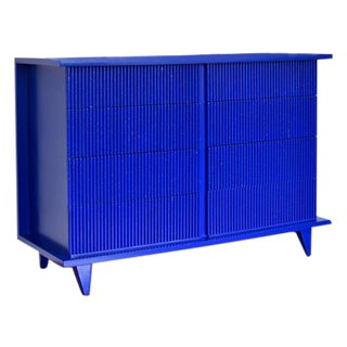 American of Martinsville Klein Blue Bamboo Dresser