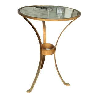 Vintage Mirror Top Accent Table