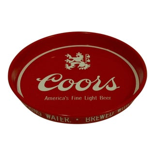 """Coors"" Vintage Beverage Serving Tray Circa 1970"