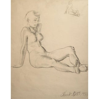 Figural Study in Charcoal, 1950