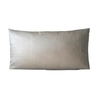 Dark Gold Faux Leather Lumbar Pillow