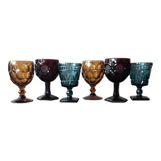 Bohemian Glass Goblets - Set of 6