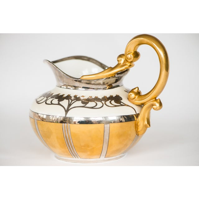 Pickard Aura Argenta Linear Signed Pitcher - Image 6 of 8
