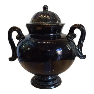 Mexican Ceramic Handled Urn