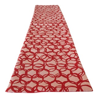 Red & White Holiday Table Runner