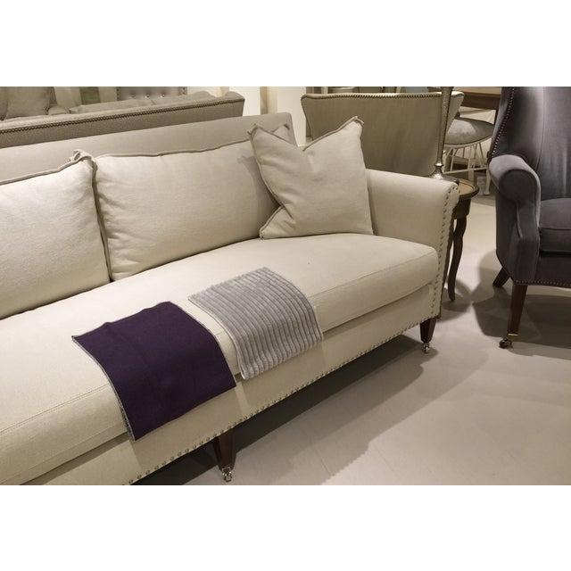 Lillian August Paris Linen Sofa - Image 8 of 9