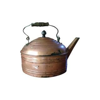 Antique English All Copper Tea Pot