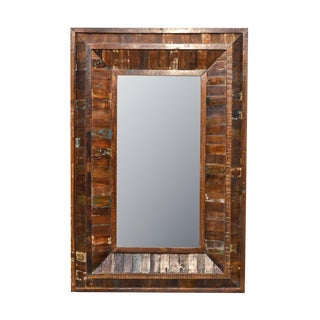 Rustic Reclaimed Rectangle Wooden Mirror