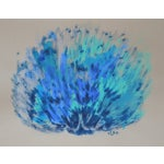 """Image of """"Blue Sea Shell"""" Abstract Painting by Cleo"""