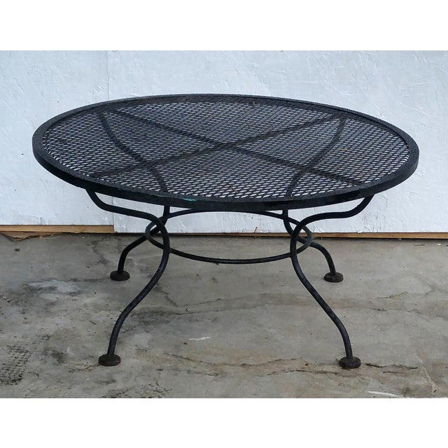 Woodard Vintage 1950s Sculptural Iron Coffee Table - Image 2 of 5