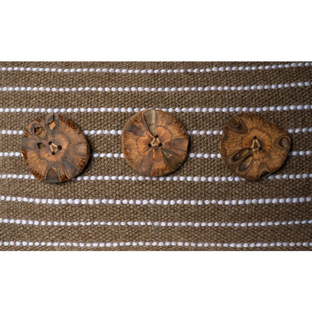 Brown Hand-Woven Pillow - Image 3 of 4