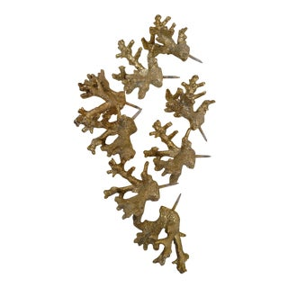 Gold Coral Wall Decor - Set of 8