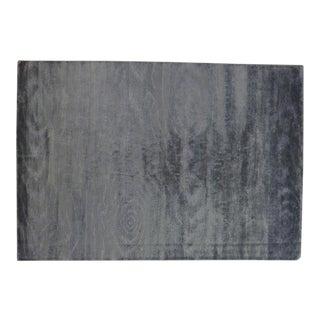 Silver Wood Grain Rug - 5′11″ × 8′8″