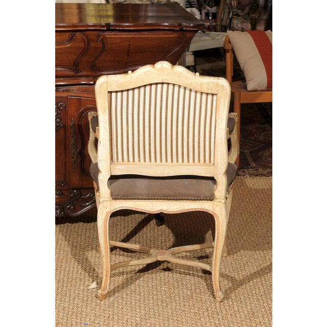Louis XV Style Painted Bergere Chair - Image 5 of 7
