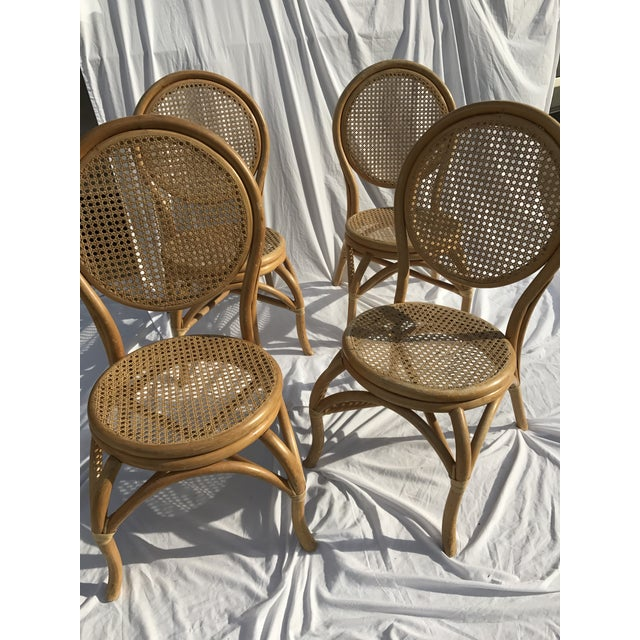 Sheet Cane Bentwood Bistro Chairs - Set of 4 - Image 3 of 10
