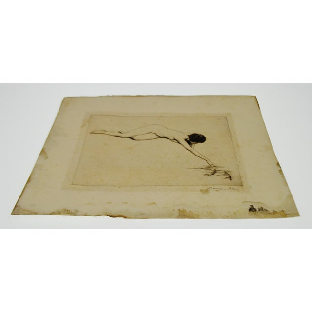 Early Warren B. Davis Pencil Signed Etching - Image 5 of 6