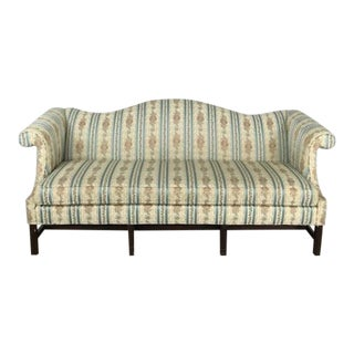 Queen Anne Antique Style Floral Sofa