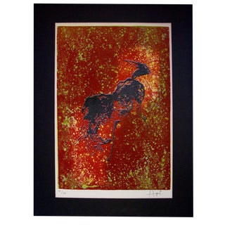 Bucking Horse by Hoi Lebadang Lithograph