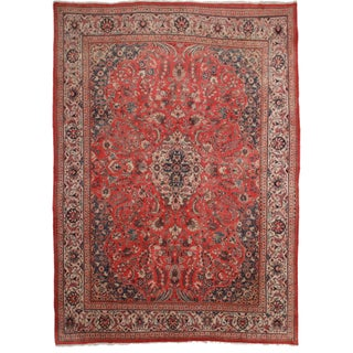 Hand-Knotted Persian Mahal Rug - 9′10″ × 13′1″