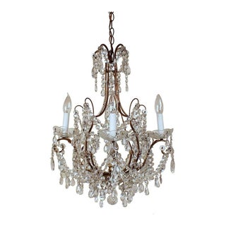 1950s Italian Five-Arm Chandelier