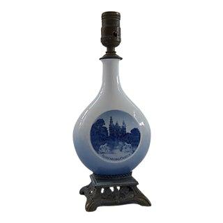 Royal Copenhagen Blue & White Porcelain Table Lamp