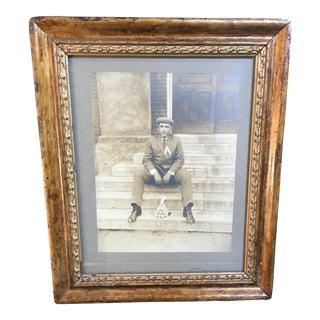 Vintage Framed Photograph of Man, Circa 1920